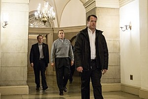 Speaker of the House John Boehner (R-OH) leaves his office and walks toward the exit on Capitol Hill