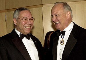 Colin Powell and General H. Norman Schwartzkopf