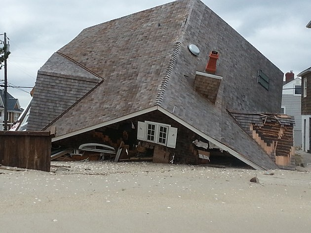 Home destroyed in Brick by Sandy