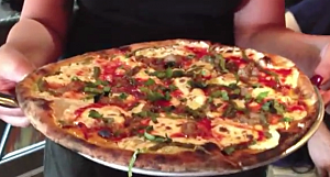 Youtube - DelPonte's broccoli rabe and sausage pizza
