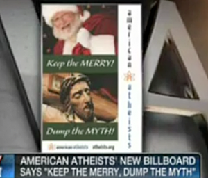 BILLBOARD IN TIMES SQUARE FROM ATHEISTS