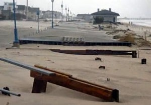 Belmar boardwalk after Sandy