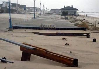 Belmar boardwalk after Sandy
