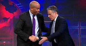 Cory Booker on The Daily Show with Jon Stewart