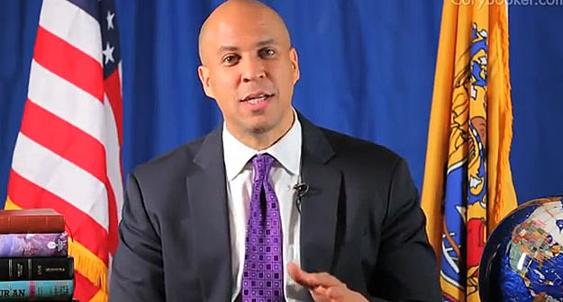 Cory Booker annouces intention to run for US Senate
