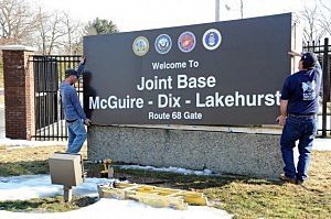 Joint base sign