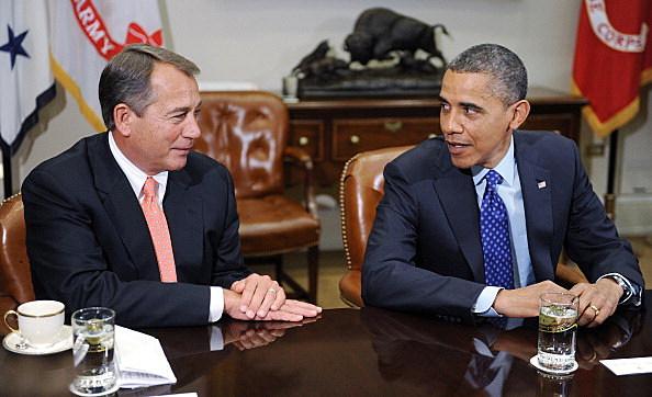Speaker of the House John Boehner and President Barack Obama