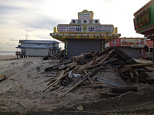 Seaside Heights boardwalk after Sandy
