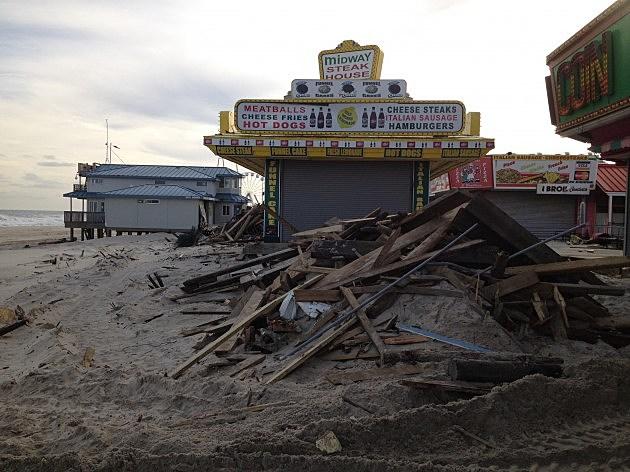 Seaside Heights boardwalk after Sandy