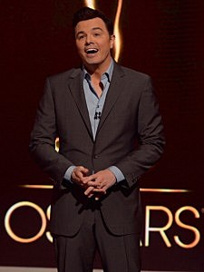 Host Seth MacFarlane announces the nominees at the 85th Academy Awards Nominations Announcement