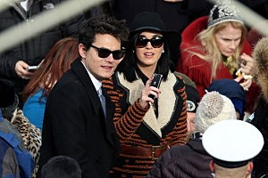 John Mayer and Katy Perry attend the presidential inauguration