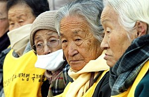"Former ""comfort women"" who served as sex slave for Japanese troops during World War II"