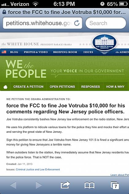 Joe V Petition