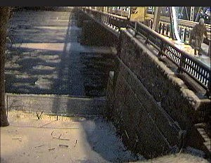 Surveilliance photo of Sarah Majoras crossing the bridge from New Hope, PA into Lambertville the nigtht of her disappearance.