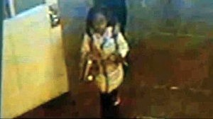 Surveillance footage of Nailla Robinson being taken from her school