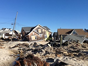 Sandy hits the Jersey Shore - Normandy Beach