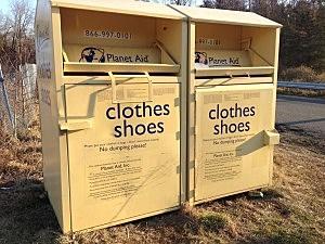 Planet Aid clothing bin