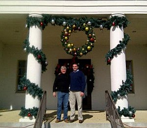 Pass Christian Mayor Leo McDermott (L) on the steps of City Hall with Belmar Mayor Matt Doherty (Facebook)
