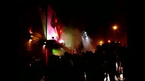 Screen shot of amteur video capturing Brazil club fire
