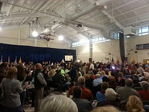 Overflow crowd at Governor Christie's 100th town hall