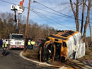 School bus involved in Old Bridge accident