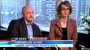 (L-R) Mark Kelly and Gabrielle Gifford on Good Morning, America