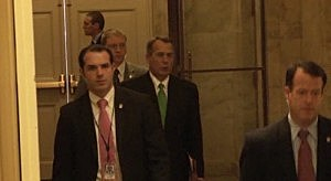 House Speaker John Boehner arrivers at the Capital on New Years Day morning.