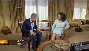 Lance Armstrong during interview with Oprah Winfrey