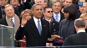 President Obama takes the oath of office for his second term