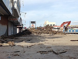 Hurricane Sandy damage in Seaside Heights