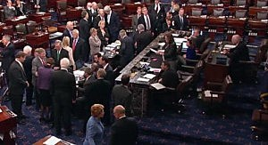 US Senate votes on fiscal cliff bill