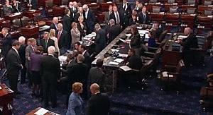US Senate votes on fiscal cliff bill