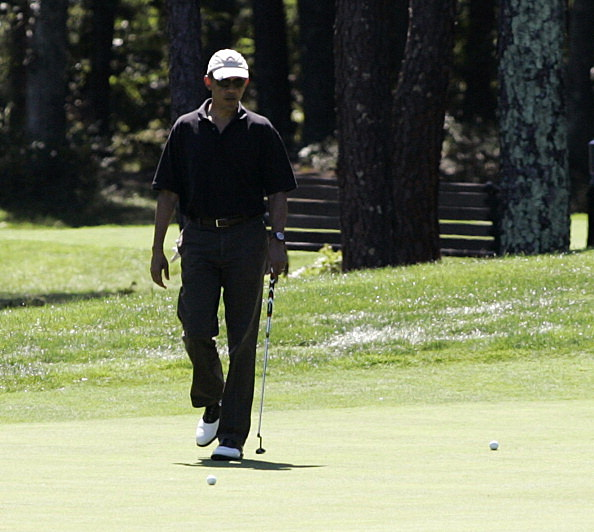 President Obama Vacations With Family On Martha's Vineyard