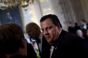 Governor Chris Christie (R-NJ) at the 2012 National Governor's Association White House dinner