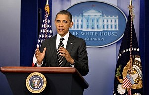 President Barack Obama holds a press conference