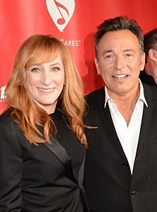 Honoree Bruce Springsteen (R) and singer Patti Scialfa arrive at MusiCares Person Of The Year Honoring Bruce Springsteen at Los Angeles Convention Center