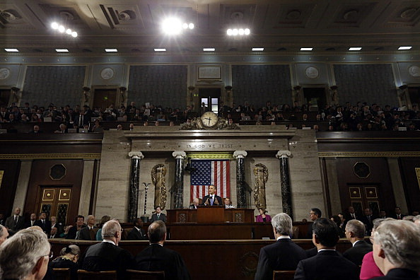 . President Barack Obama delivers his State of the Union speech before a joint session of Congress at the U.S. Capitol
