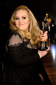 Singer Adele, winner of the Best Original Song award for 'Skyfall,'