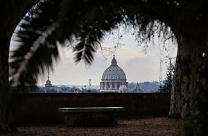 Vatican City viewed from the south on February 25, 2013 in Rome, Italy