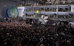 President Barack Obama speaks during a visit to Newport News Shipbuilding