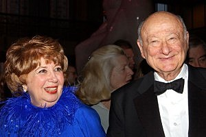 "Beverly Sills (L) and former New York City Mayor Ed Koch attend the Lincoln Center Gala ""Thank You, Beverly!"" at Lincoln Center in 2003"