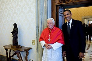 President Barack Obama meets with Pope Benedict XVI in Vatican City