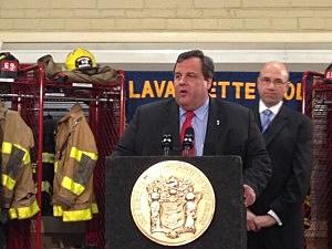 Governor Christie in Lavallette