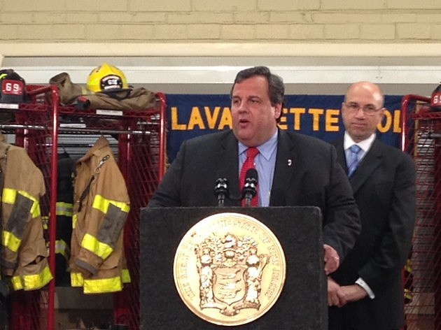 Governor Christie in Lavallette