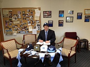 Monsignor Donovan's Brad Henson signs to attend North Carolina
