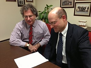 Paul Shelly and Michael Klein of the New Jersey Association of State Colleges and Universities