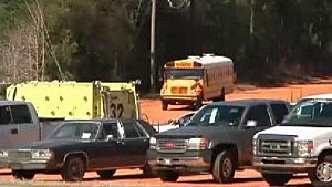 School bus being removed from Alabama shooting scene