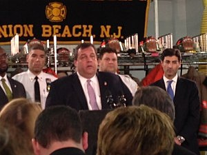 Governor Christie in Union Beach