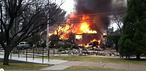 Home explosion in Haddon Heights