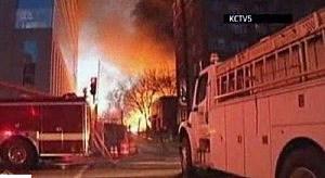 FIre crews at Kansas City fire